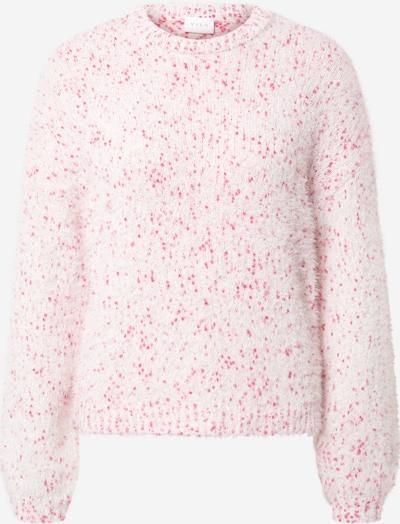 VILA Pullover in pink / weiß, Produktansicht