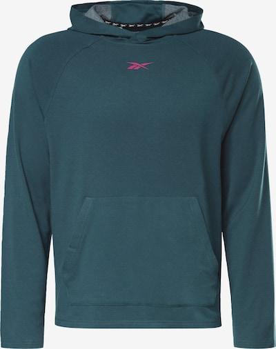 Reebok Sport Sportsweatshirt 'Workout Ready' in de kleur Donkergroen / Pink, Productweergave