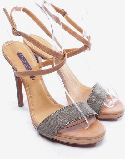 RALPH LAUREN Sandaletten in 39,5 in braun / silber, Produktansicht