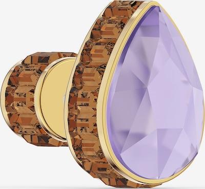 Swarovski Ohrringe in braun / gold / helllila, Produktansicht