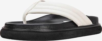 INUOVO Zehentrenner in schwarz / weiß, Produktansicht