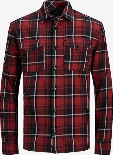 JACK & JONES Hemd 'Woodland' in rot / schwarz / weiß, Produktansicht