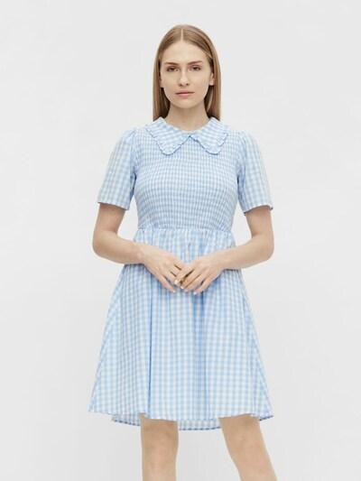OBJECT Kleid 'Sasha' in hellblau / weiß, Modelansicht