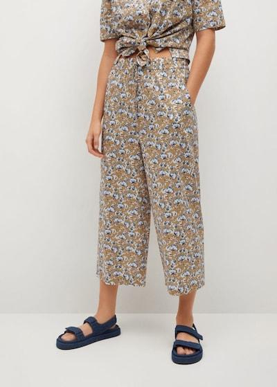 Pantaloni 'Puglia H' MANGO pe nisipiu / azuriu / albastru închis / alb, Vizualizare model