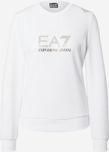 EA7 Emporio Armani Μπλούζα φούτερ σε χρυσό / λευκό, Άποψη προϊόντος