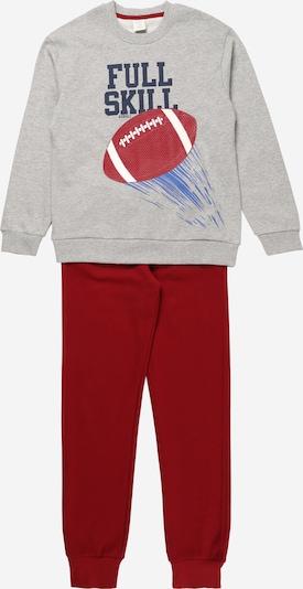 Boboli Jogginganzug in dunkelblau / grau / dunkelrot, Produktansicht