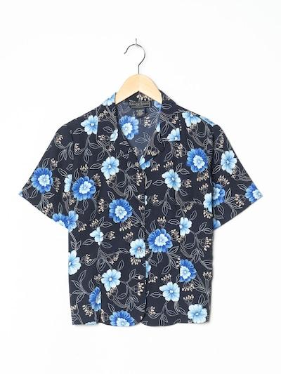 LAURA SCOTT Blumenbluse in L in nachtblau, Produktansicht