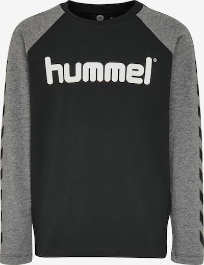 Hummel Sportshirt in grau / schwarz / weiß, Produktansicht