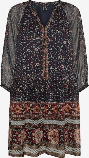 VERO MODA Kleid 'Bohemea' in beige / nachtblau / kirschrot / weiß, Produktansicht