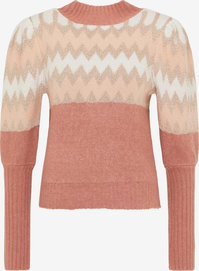 MYMO Pullover in rosé / altrosa / weiß, Produktansicht