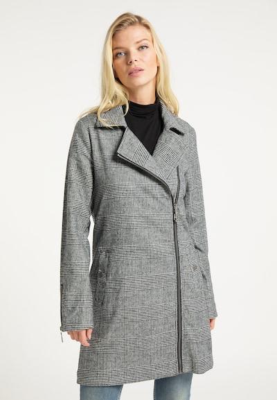DreiMaster Vintage Wintermantel in grau / weiß, Modelansicht