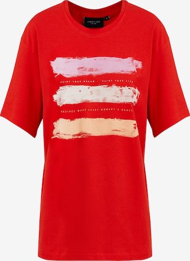 Finn Flare Kurzarmshirt in rot / weiß, Produktansicht