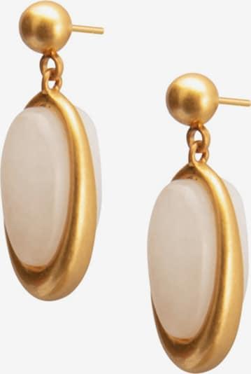 Sence Copenhagen Earrings in Gold / Pastel pink, Item view