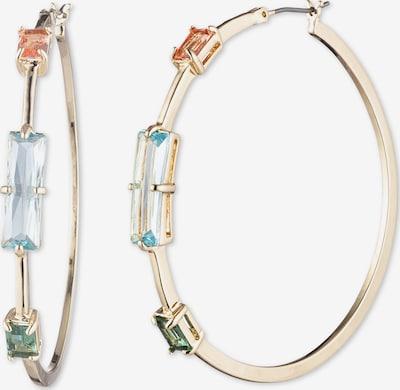 Lauren Ralph Lauren Boucles d'oreilles 'Stone Hoop' en bleu / or / vert / rouge, Vue avec produit