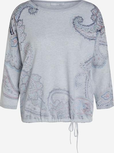 OUI Pullover in grau / weiß, Produktansicht