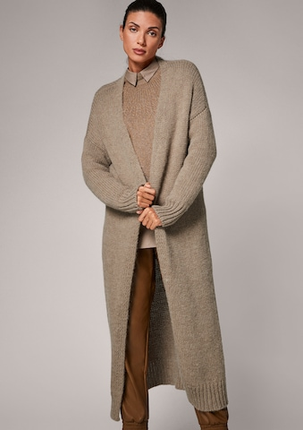 COMMA Knitted Coat in Brown