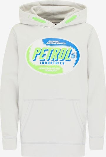 Petrol Industries Hoodie in blau / grün / weiß, Produktansicht