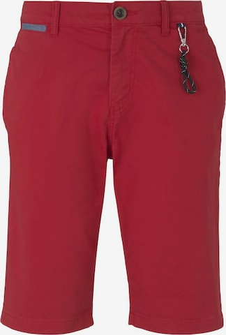 TOM TAILOR Shorts in Rot