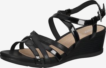 GEOX Sandale in Schwarz