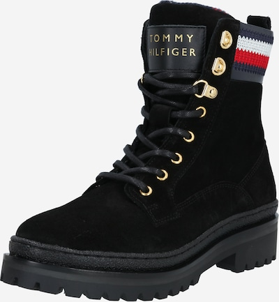TOMMY HILFIGER Stiefelette in navy / rot / schwarz / weiß, Produktansicht