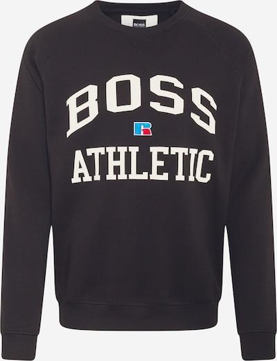 BOSS Casual Sweat-shirt 'Stedman_RA' en noir / blanc, Vue avec produit