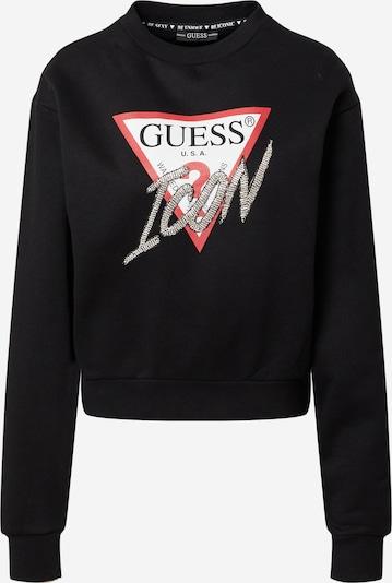 Bluză de molton GUESS pe roșu / negru / alb, Vizualizare produs