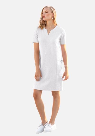 Anna Aura Abendkleid Kleid mit 3/4-Arm aus 100% Leinen in weiß: Frontalansicht