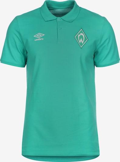 UMBRO Poloshirt 'SV Werder Bremen' in jade / weiß, Produktansicht