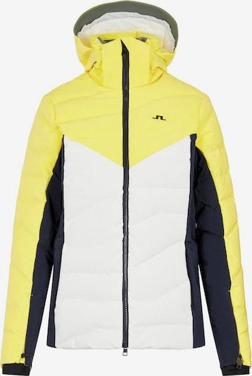 J.Lindeberg Veste d'hiver en jaune / noir / blanc, Vue avec produit