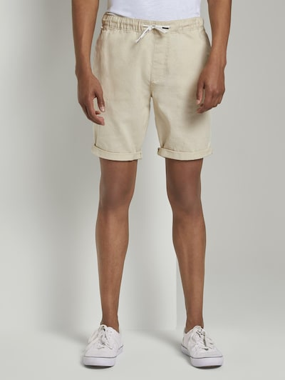 TOM TAILOR DENIM Shorts in hellbeige, Modelansicht
