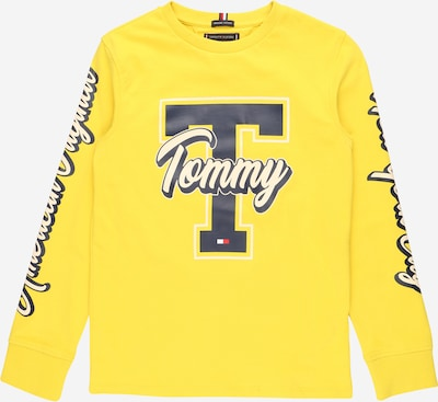 TOMMY HILFIGER T-Shirt 'FUN VARSITY' en bleu nuit / jaune / blanc, Vue avec produit