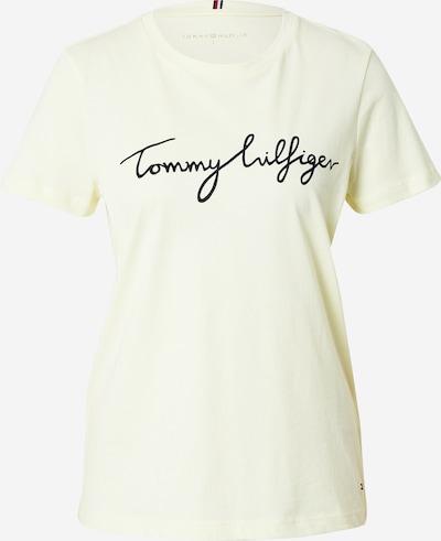 Tricou TOMMY HILFIGER pe galben pastel / negru, Vizualizare produs