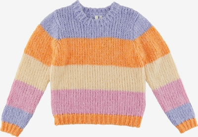 Little Pieces Pull-over 'Fonda' en jaune / violet / lilas / orange, Vue avec produit