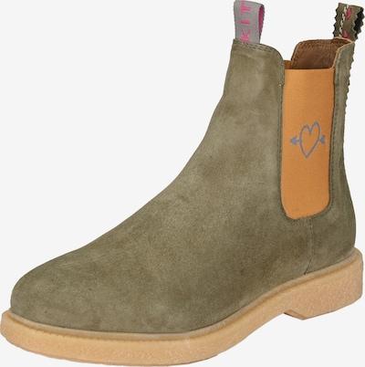 Crickit Chelsea Boot 'EVIE' in khaki / orange, Produktansicht