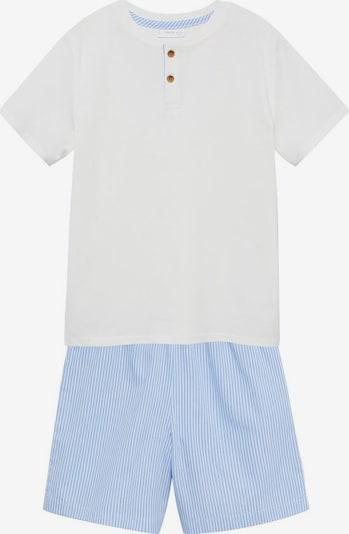 MANGO KIDS Schlafanzug in blau / weiß, Produktansicht