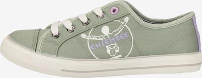 CHIEMSEE Sneaker in oliv / lila / weiß: Frontalansicht