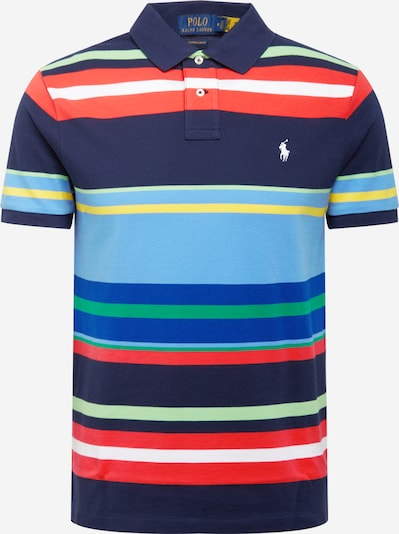 POLO RALPH LAUREN Poloshirt in navy / hellblau / limone / hellgrün / grenadine, Produktansicht