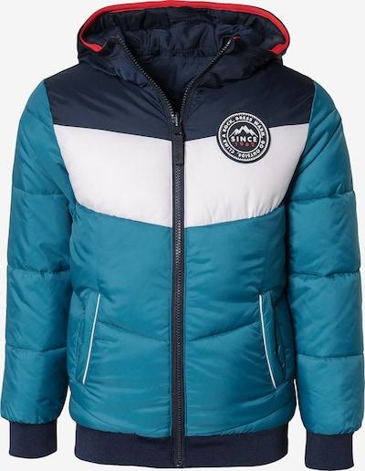 WE Fashion Jacket 'Jynx' in navy / himmelblau / weiß, Produktansicht