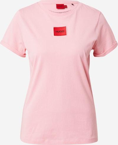 HUGO Camiseta en rosa claro / rojo / negro, Vista del producto