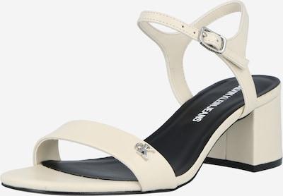 Sandale cu baretă Calvin Klein Jeans pe crem / alb, Vizualizare produs