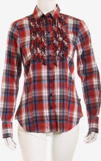 Jacques Britt Rüschen-Bluse in S in blau / rot / weiß, Produktansicht