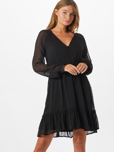 ABOUT YOU Shirt dress 'Tia' in Black, View model