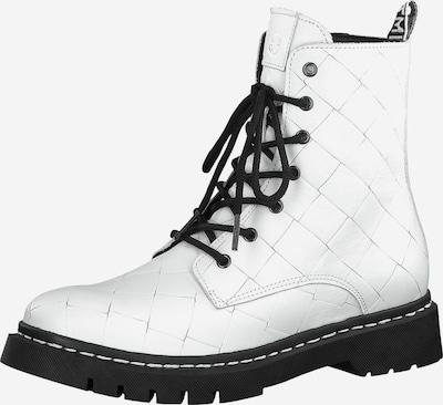 TAMARIS Schnürstiefelette in schwarz / weiß, Produktansicht