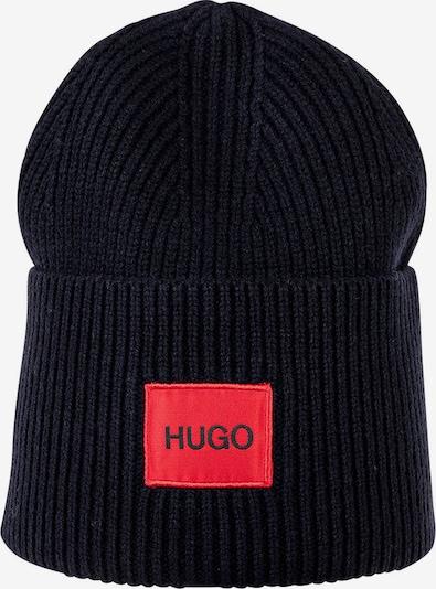 HUGO Bonnet en bleu nuit / rouge, Vue avec produit