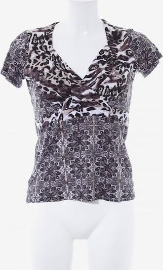 COMMA T-Shirt in S in beige / creme / schwarz: Frontalansicht