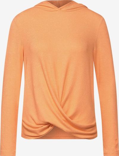 STREET ONE Hoodie-Shirt mit Knoten in orange, Produktansicht