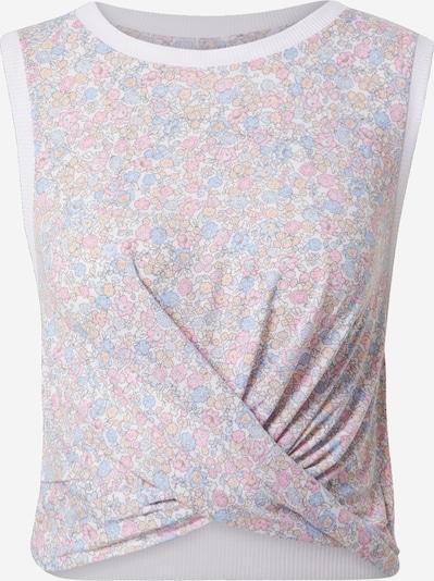 Cotton On Top 'RUN WITH IT' in de kleur Lichtblauw / Pasteloranje / Rosa / Wit, Productweergave