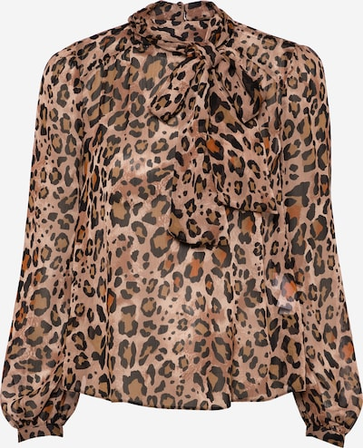 NEW LOOK Bluse 'Christine' in braun / hellbraun / schwarz, Produktansicht