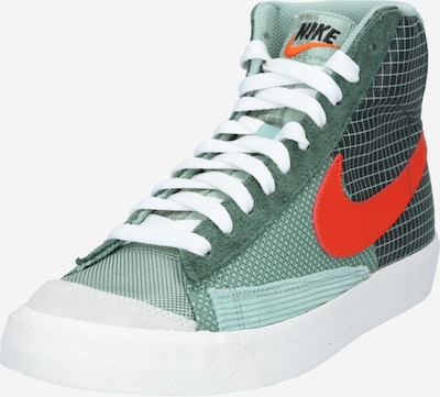 Nike Sportswear Korkeavartiset tennarit värissä minttu / kuusi / tulenpunainen, Tuotenäkymä