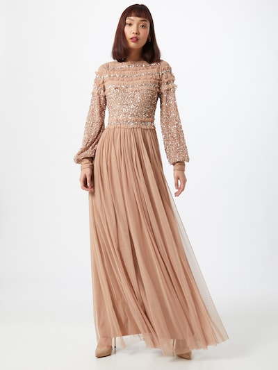 Maya Deluxe Společenské šaty - béžová, Model/ka